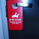 Funny door tag