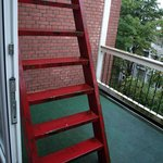 Fire escape on balcony