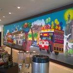 mural en restaurant