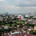 Medan view seen from the 22rd floor