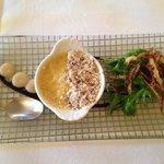 Amuse Bouche: Creme Brulé au Foie Gras