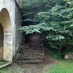 The beautiful path to church in Gittana