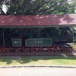 Old North Borneo Steam Railway engine on display