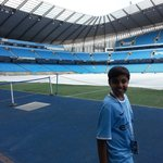 Dhruv at Manchester City Stadium
