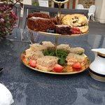 this was MY afternoon tea, beautiful cakes, brought two home with me, fabulous x