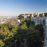 Widok z Baszty Rybackiej, Budapeszt, Węgry