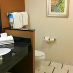 spacious, well appointed bathroom.....better choice than a water closet, thanks Fairfield Inn!!!