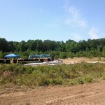 Construction materials on tent sites