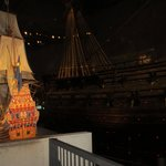 The model of the Vasa alongside the real thing