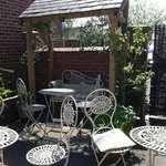 Beautiful outside garden to relax in!