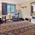 Queen Bed Room with Micro/Fridge