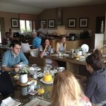 lovely and relaxed breakfast cooked by Paul