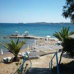 vue sur la mer depuis les bungalows