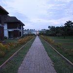 Walk towards hotel exit