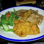 Mo'Bay Chicken and sweet potato mash