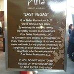 Parte externa, gravação de Last Vegas