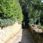footpath into town, near B&B