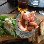 Pity about the prawns & bread