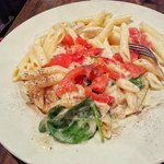 Alfredo Chicken w/tomatoes and basil 9 29 2013