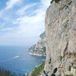 Looking towards Marina Piccola & Via Krupp below