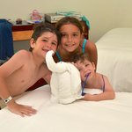 Towel animals were LOVED by the kids!