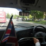 Looking Out From Backseat as Mr. Churchill Tells Us About London