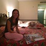 Bedspreads from grandmas basement :) but cute