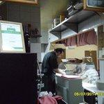 il cuoco all'opera