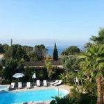 Vue piscine et golfe de Saint Tropez