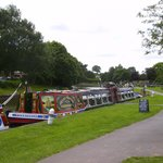 Horse drawn canal boat.