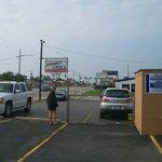 sign & parking lot