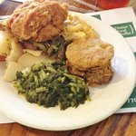 Fried chicken and all the fixins