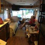 Living space in rental RV