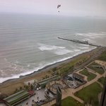 View from Concierge Lounge with a paraglider