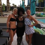 Tower 1 pool and some sweet ladies I met. I'm the blonde.