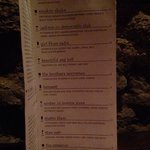 Classics cocktail menu
