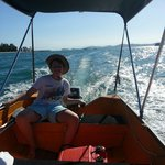 This 6hp hire boat gets along nicely and can take you all the way over to Dunk Island! Seats up