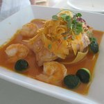 Olive Oil Poached Mahi Mahi & Shrimp