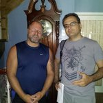 Here I am with the owner of Le Septentrion; many thanks, Dany!