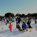 Families enjoying Snow time