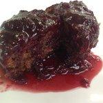 Cherry & Kirsch steamed pud