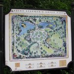 Map-sign of St. Stephen's Green Park