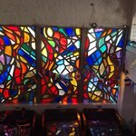 THE stained glass window (unique amongst hostels)