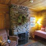 3 room Suite - bedroom has fireplace