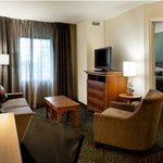 One-bedroom king suites have separate sleeping and sitting areas.