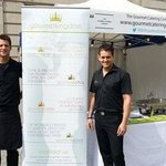 owners Andy & Dean hosting Food & Drinks festival outside in Exchange Flags.....great day love i