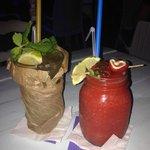 Long Island Ice Tea and Strawberry Daiquiri. Amazing.