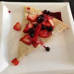 Lemon Crepe with Blueberry Sauce!!!