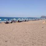 Afandou beach lovely. 5 min walk