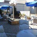 Patio Beside Kincaids Restaurant and Lounge